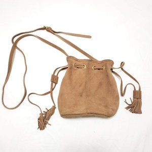 Juicy Couture Brown Suede Bucket Bag With Tassels
